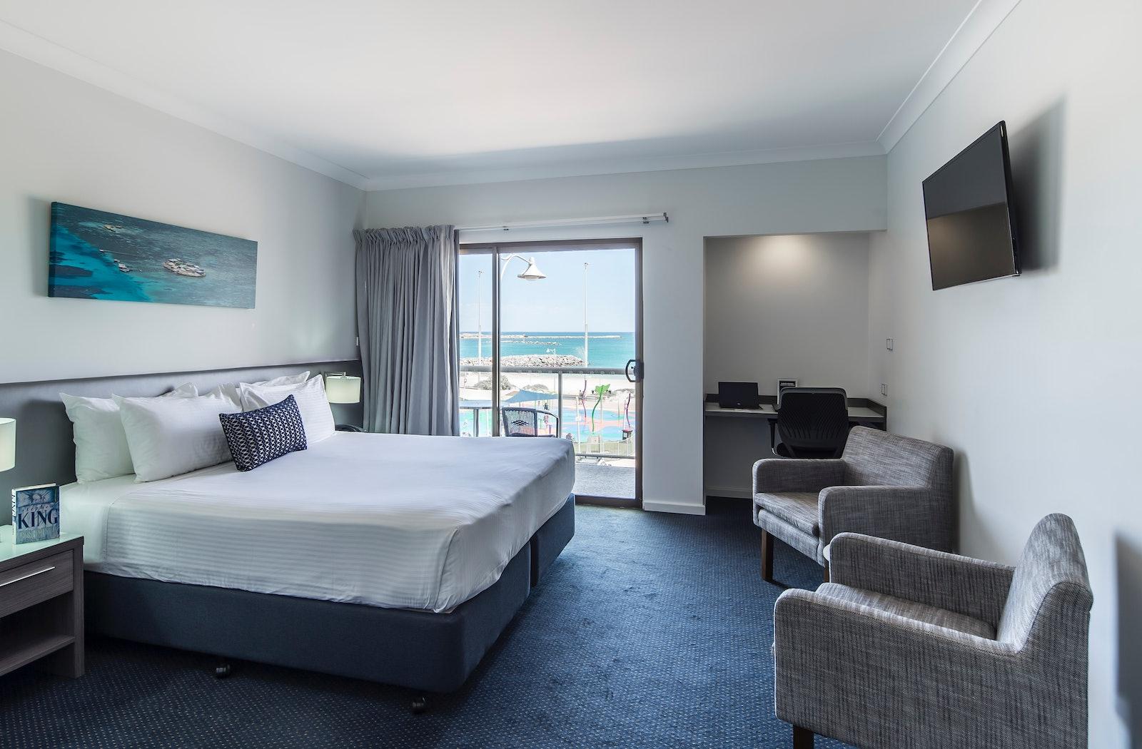 luxe ocean view 1 with balcony ocean centre hotel geraldton